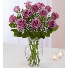 Rose Elegance Premium Long Tige Purple Roses (Small)