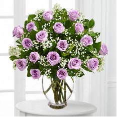 Roses violettes à longue tige (Bon)