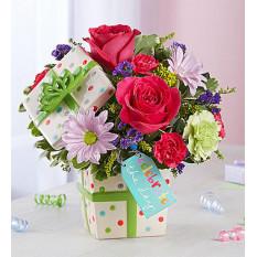 Joyeux anniversaire présent bouquet (petit)