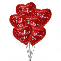 Aimez-vous Balloon Bouquet (6 Ballons Mylar)
