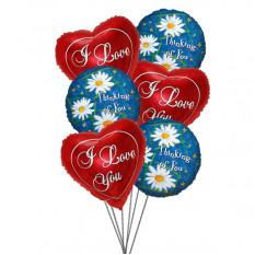 Sourires et ballons d'amour (Ballons 6-Mylar)