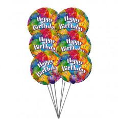 Ballons d'anniversaire pétillants (6 ballons Mylar)