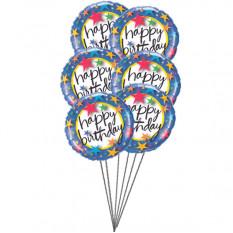 Ballons colorés (6 ballons Mylar)