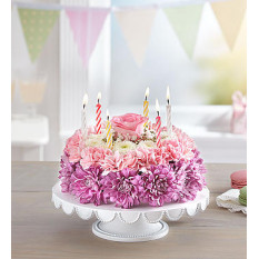 Birthday Flower Cake Pastel (Small)