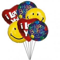 Ballons de fête d'anniversaire pleins d'amour, de sourire et de souhaits (6 Ballons Mylar)
