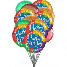 Joyeux ballons joyeux anniversaire (ballons 6-Mylar et 6-Latex)