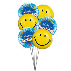 Smiley anniversaire ballons