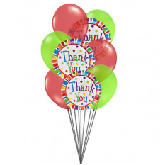 Merci beaucoup ballons (6 Ballons Latex & 3-Mylar)