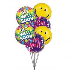 Sourire et souhaiter se rétablir (6 ballons Mylar)