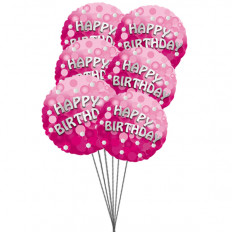 Riche anniversaire ballons (6 ballons Mylar)