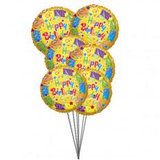 Bouquet des meilleurs ballons d'anniversaire (6 ballons Mylar)