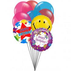 Ballons de fête d'anniversaire (6 ballons en latex et 3 ballons Mylar)