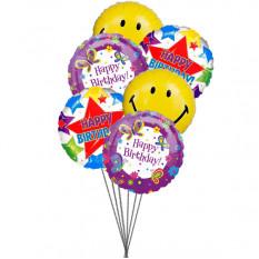 Ballons de fête d'anniversaire (6 ballons Mylar)