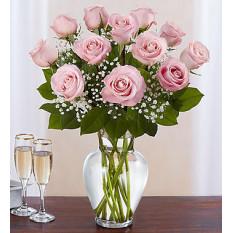 Rose Elegance Premium Rose longue rose rose (12 roses roses roses)