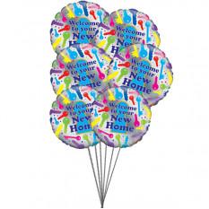 Maison heureuse (6 Ballons Mylar)