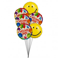 Smiley Home (6 ballons Mylar)