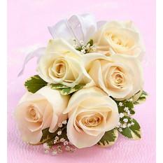 Corsage Rose Blanche (Premium)