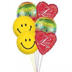Ballons d'amour d'anniversaire