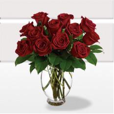 12 Premium Long Tige Red Rose (Standard)