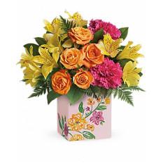 Bouquet de fleurs peintes (Standard)