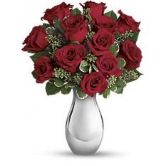 Bouquet True Romance de Giftblooms avec Roses Rouges (Petit)