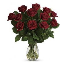 Mon vrai bouquet d'amour avec des roses à longues tiges (petit)