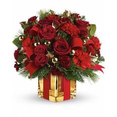 Tout le bouquet enveloppé par Giftblooms (moyen)