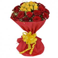 30 bouquet de roses mélangées