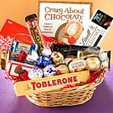 Panier cadeau chocolat C
