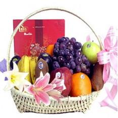 Corbeille de fruits à fleurs A
