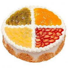 Gâteau aux fruits de quatre couleurs