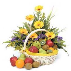 Panier à fruits fleurs H