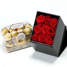 6 Roses Décoration et Chocolat