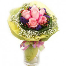 6 roses roses bouquet