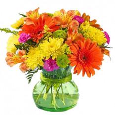 Arrangement de fleurs en vase
