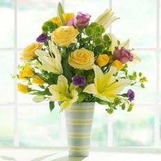 Fleurs fraîches dans un vase