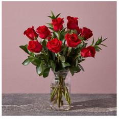 Rouge 1 douzaine de roses