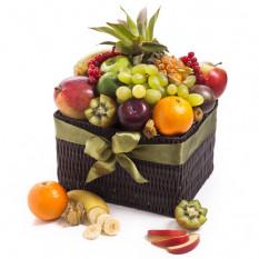 Panier de fruits saisonnier exotique