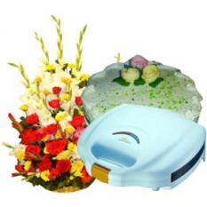 Sandwich Maker WithCake And Flower Basket