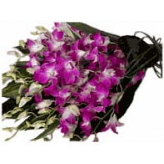 Purple Orchids In Bouquet