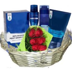 Panier exclusif de produits de soins de la peau pour hommes