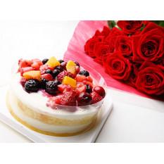 Quattro Berries Torte Et Roses