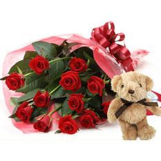 Sélectionnez Roses et Teddybear