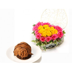 Rare Chocolate Mont Blanc & Heart Roses (mix)