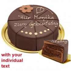 Délicieux gâteau au chocolat, peut être étiqueté