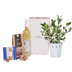 Panier Gardenia & Vin Blanc