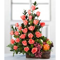 Des roses et des fruits pour vous