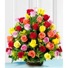 Panier Premium Roses