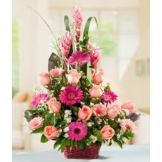 Panier de fleurs assorties