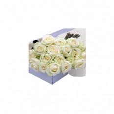 Boîte à fleurs Roses blanches 30 pcs